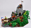 A Hopeful Bargain of Mead 2 (mrcp6d) Tags: lego castle crusaders forestmen wagon knight trees watchtower cccxv