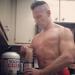 casein protein (ddman_70) Tags: shirtless muscle pecs