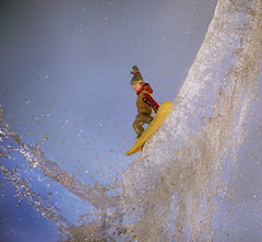 Waterboarding on a Snowboard,... (Wim van Bezouw) Tags: sony ilce7m2 pluto trigger plutotrigger highspeed