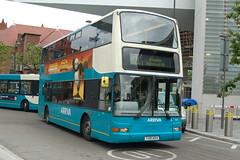 Arriva Dennis Trident 2 4002 Y48ABA - Liverpool (dwb transport photos) Tags: arriva dennis trident plaxton president bus decker 4002 y48aba liverpool