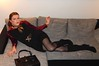 Couch Potato (Rikky_Satin) Tags: silk satin blouse scarf sheath dress boots highheels crossdresser transvestite transgender transformation mtf m2f feminization sissy secretary