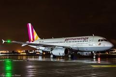 Germanwings D-AGWY HAJ at Night (U. Heinze) Tags: aircraft airlines airways flugzeug planespotting plane haj hannoverlangenhagenairporthaj eddv nikon night