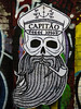 Captain Long John Silver (Beard) (Steve Taylor (Photography)) Tags: captain longjohnsilver capitao pipe skull cap beard anchor art graffiti pasteup wheatup wheatpaste streetart spooky eerie uk gb england greatbritain unitedkingdom london