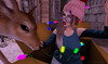 ♥~PhotoBombed!~♥ (Hunnie.VonM) Tags: justice lilbug poses thepointevent pointevent event k9 kustom9 tentacio spellbound jian fawn deer lavie christmas winter decorating secondlife sl maitreya catwa insol