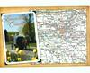 Pennsylvania - Lancaster County Map & View - TO TRADE (bdsuss) Tags: pennsylvanai lancastercounty amishcountry postcard map
