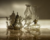 'Tealight' (Canadapt) Tags: lamp teapot lantern shadow reflection marble silver glass nafarros sintra portugal canadapt