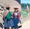 Going to the market in Pisac (Lewitus) Tags: pisac cuzco traditionalclothing hats scannedektachrome hasselblad500c 1978