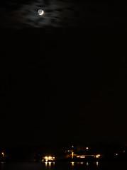 PC213314 (Paul Henegan) Tags: fortpond montaukny moon yule availablelight clouds earthshine longexposure reflections sky waxingcrescent winter