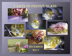 So much glass ;o) (Elisafox22 catching up again ;o)) Tags: elisafox22 december 2017 collage snapshot images 7daysoffestiveglass summary thumbnails border artglass glass baubles ornaments christmas yellow red white ribbons decorations light shadows photoshop elisaliddell©2017