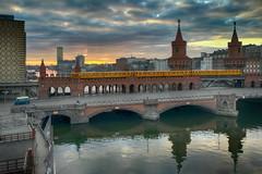 Oberbaumbrücke (micagoto) Tags: berlin brücke bridge spree dawn oberbaumbrücke bvg ubahn u1