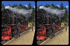 Feedwater heating 3-D / CrossEye / Stereoscopy / HDR / Raw (Stereotron) Tags: sachsenanhalt saxonyanhalt ostfalen harz mountains gebirge ostfalia hardt hart hercynia harzgau steam train locomotive feedwater heating europe germany crosseye crosseyed crossview xview cross eye pair freeview sidebyside sbs kreuzblick 3d 3dphoto 3dstereo 3rddimension spatial stereo stereo3d stereophoto stereophotography stereoscopic stereoscopy stereotron threedimensional stereoview stereophotomaker stereophotograph 3dpicture 3dglasses 3dimage twin canon eos 550d yongnuo radio transmitter remote control synchron kitlens 1855mm tonemapping hdr hdri raw
