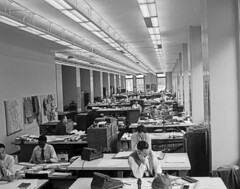 City Engineering Draft and Assessment Room, 1953 (Seattle Municipal Archives) Tags: seattlemunicipalarchives seattle cityemployees publicemployees engineering offices 1950s africanamericans