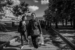 0a7_dsc2097 (dmitryzhkov) Tags: russia moscow documentary street life human monochrome reportage social public urban city photojournalism streetphotography people face streetportrait bw glasses spectacles shadows lights uniform servant walk walker pedestrian dmitryryzhkov blackandwhite portrait couple two everyday candid stranger