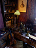 The Fictional Home of Sherlock Holmes (Steve Taylor (Photography)) Tags: violin microscope glass book shelves sheetmusic vials wallpaper scales balance art digital curtains portrait picture uk gb england greatbritain pippet unitedkingdom london 221b 221bbakerstreet bakerstreet sherlockholmes sherlockholmesmuseum desk