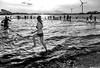 Winterdip (Emil de Jong - Kijklens) Tags: nieuwjaar nieuwjaarsduik heerhugowaard zwemmen zwem bikini meisje girls cold koud water blackandwhite zwartwit strand luna kijklens beach people
