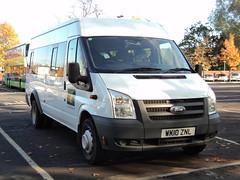 Cranedale Centre of Malton WK10ZNL (yorkcoach2) Tags: york malton crandalecentre fordtransit ford wk10znl stgeorgesfieldcoachpark