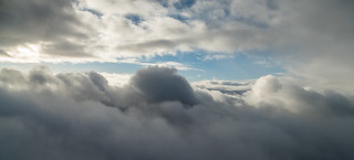 Almost above the clouds at the summit of Beinn Ime