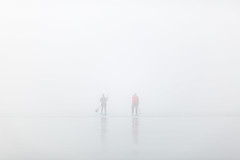 in the fog (Marc McDermott) Tags: fog people paddle boarding canada pickering ontario frenchmansbay fall autumn still