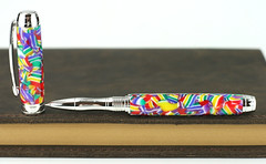 Candy Celebration Rollerball Pen (BenjaminCookDesigns) Tags: fountainpen custom bespoke engraved personalised classic vintage artdeco style gift birthday christmas fpgeeks fpn giftforhim giftforher candy multicolour rollerball