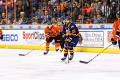 "Kansas City Mavericks vs. Colorado Eagles, December 16, 2017, Silverstein Eye Centers Arena, Independence, Missouri.  Photo: © John Howe / Howe Creative Photography, all rights reserved 2017. • <a style=""font-size:0.8em;"" href=""http://www.flickr.com/photos/134016632@N02/38255717675/"" target=""_blank"">View on Flickr</a>"