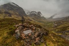 Ralston Memorial (Chris_Hoskins) Tags: wwwexpressionsofscotlandcom scottishlandscapephotography scotland glencoe scottishlandscape bideannambian 3sisters landscape thestudy