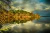 Lac d'Aureilhan 2 (40) (GerardMarsol) Tags: baie ciel couleurs deversoir france feuilles forêt ile landes lumières lac mimizan nature nuages ombres paysage reflets soleil sud temps automne eau arbres bois