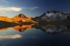 Залез над Каменица и Тевно езеро, Пирин (sevdelinkata) Tags: sky mountain lake water rock landscape pirin bulgaria