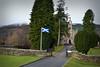 Braemar, Scotland (D-A-O) Tags: braemar scotland flag standrew church saintandrewschurch landscape hillside cairngormsnationalpark nikond750