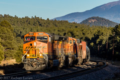 BNSF 3854 West: East Williams Junction, Arizona (Z-Trains) Tags: bnsf arizona seligman subdivision sub apache railroad apacherailroad seligmansubdivision northernarizona trains train alco mlw c420 c424