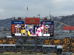We won! (Star Cat) Tags: pittsburgh pennsylvania steelersfootball steelers football cold winter newyearseve 2018 duanes50birthday 50 snow victory scoreboard wewon heinzfield
