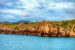Mar, tierra y cielo. (Alberto Ramos C.) Tags: beach sunset color blue mar sea cantabria spain españa europe ocean landscape paisaje acantilado rocks photo