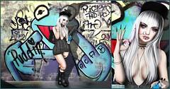 Bad Habit (Puddin Jameson) Tags: applemaydesigns asteroidbox catwa foxcity gorgeousdolls identity izzies kosh maitreya mug paperdolls randommatter supernatural valekoer sl secondlife fashion blog urban cute grafiti tagging woman girl portrait