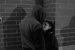 Night meeting (Andrew Reynard) Tags: newyork streetphoto street manhattan nyc ny passion people night nightphoto bwphoto