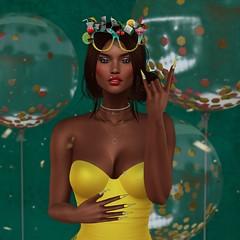 Happy New Years 2018 Close Up (Indigo Avonside of My Sister's Closet) Tags: indigo avaway maitreya lelutka formanails dafnis belleposes district20 gacha yummy bento truth ikon