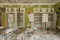 Duga School (scrappy nw) Tags: school abandoned scrappynw scrappy derelict decay forgotten canon canon750d chernobyl chernobyldisaster urbex ue urbanexploration urbanexploring ukraine pripyat desk education classroom