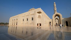 Oman, Muscat (ClaDae) Tags: oman muscat mosque grandmosque white building architecture travelphotography sultanqaboosgrandmosque sandstone