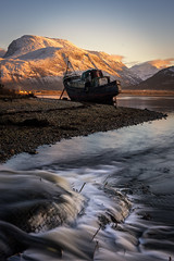 Corpach wreck (chrismarr82) Tags: corpach boat highlands fort william nikon sunset mountain sun