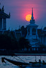 Sunset at Wat Kalayanamitr (aey.somsawat) Tags: chaophrayariver longtailboat silhouette sunset thaiarchitecture watkalayanamitr