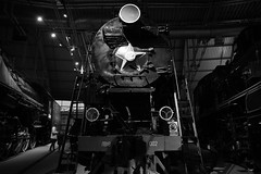 Great steam machine. Railroads museum. (vazek2007) Tags: museum railroad locomotive steam history power blackandwhitephotography blackandwhitephoto bnwphoto bnw monochrome foveon sigmasdquattro sdquattro
