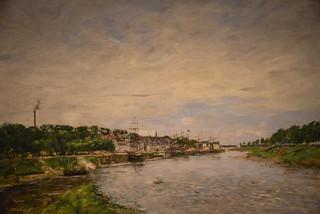 Eugene Boudin - Harbor at Saint Valery Sur Somme, 1891 at New Orleans Museum of Art - New Orleans LA