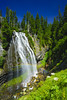 Narada Mistbow (RobertCross1 (off and on)) Tags: a7rii alpha cascaderange cascades emount fe1635mmf4zaoss ilce7rm2 longexposure mountrainier mtrainier mtrainiernationalpark naradafalls pacificnorthwest paradise paradiseriver sony wa washington bluesky canyon cascade creek flowers forest fullframe landscape mirrorless mist mistbow rainbow river trees volcano water waterfall wildflowers