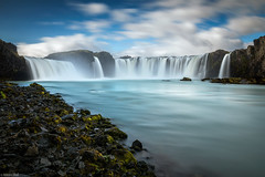 Godafoss / Long Time Exposure - Iceland (Toine B.) Tags: godafoss waterfall cascade chute deau water eau river riviere roches rocks blue turquoise longexposure long time exposure nd1000 islande iceland nikon d750 tamronsp2470mmf28divcusd tamron2470 tamron paysage landscape beautiful