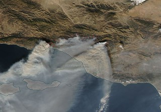 NASA's Look At the Difference of a Few Days in the Thomas Fire