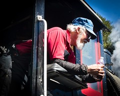 Portrait of an Engineer  No 1 (CDay DaytimeStudios w/1,000,000 views) Tags: california engineer fall fallcolor fremontca nilecanyon nilesca nilescanyonrailroad nilesrailroad portraits railequipment railsystems railroad railroadtracks sanfranciscobayarea trainengine