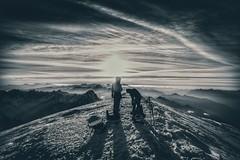 Mountains in Black and White always look epic! (gareth.jobbins) Tags: chamonix mountineering climbing landscape mountains summit sunrise alps montblanc mountain