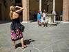 Snap #056 (Peter.Bartlett) Tags: bag tourists people city standing boy colour lunaphoto girl child candid woman camera urbanarte urban streetphotography peterbartlett siena toscana italy it