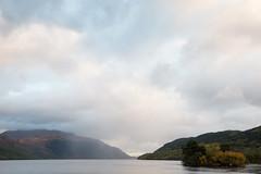 Rain over Loch Lomond (paul indigo) Tags: autumn loch lochlomond paulindigo scotland colour horizontal lake landscape rain sky trees