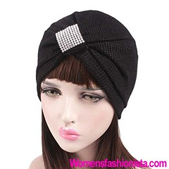 Qingfan Women Crochet Solid Pre Tied Warm Cancer Chemo Hat Beanie Turban Stretch Head Wrap Cap (Black) (womensfashionista) Tags: beanie black cancer cap chemo crochet hat melaninart melaninpoppin pre qingfan solid stretch tied turban warm women wrap