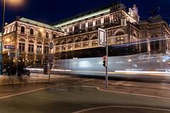 Opera (DanAie) Tags: opera light trails night color city wien travel austria vienna street longexposure exposure