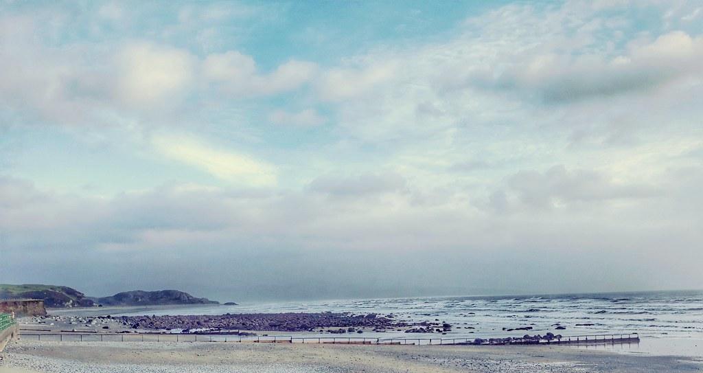 Rough sea at Criccieth.